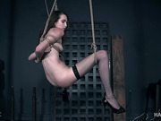The sexy body of Brooke Johnson gets bound and broken.