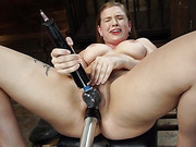 Fresh Meat: Giselle Palmer Cums Repeatedly on the Machines -