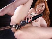 Busty Redhead Lauren Phillips Gets Machine Fucked In The