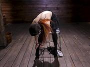 Serena Blair Fucks the Machines in Rope Bondage - Kink