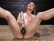 Girl Next Door Bound and Machine Fucked and Sybian - Kink