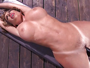 Bodacious Curvy Babe is Bound and Fucked with Machines -