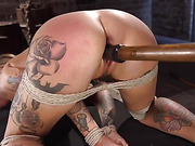 Stunning Tattooed Babe Made to Endure Torment