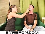Mistress Alexandra Troy humiliates slave