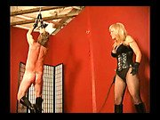 Chenee whips her personal slave from back