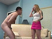 Teen mistress learns a ballbusting punishment