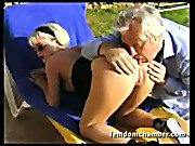 Horny Mistress Tans and Gets Pussy Eaten