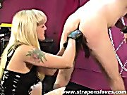 Strapon Slaves. Fingers in ass