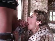 Lady Sonia fucked in lingerie outside