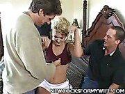 Blonde Wife Alana Thomas Banged Hard!