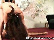 Fat mistresses facesitting male victim