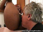 Big butt ebony giving smothering