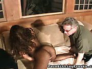 Black cunt rubbed and licked