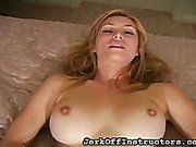 JO blonde teased on bed