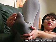Pussy petting of JO brunette