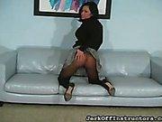 Skirt and pantyhose JO teasing