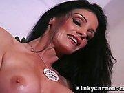 Carmen canning her new female slave