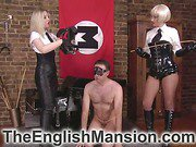 Blondes spanking and facesitting slave