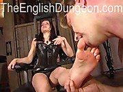 Mistress enjoying hot toe sucking