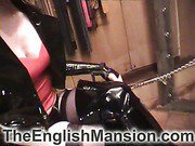 Slave was teased by shiny boots