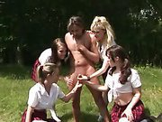 Hot cfnm schoolgirls get naughty
