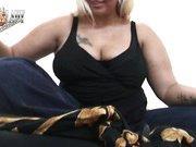 Fat lady sat on slave's face