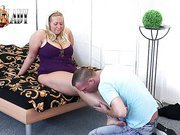 Huge lady abused her slave