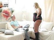 Fat mistress tortured her slave