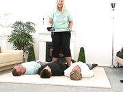 Fat lady tortured three slaves