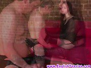 Dom mistress commands him to worship her boots