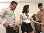 Wild cuckold games in office
