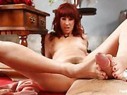 Mistress abused slave with feet
