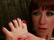 Mistress used her gorgeous feet