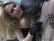 Nipple clamping and dick torture