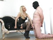 Whipped slave getting hardcore cbt