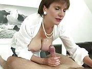 Tit fuck and tug femdom babe