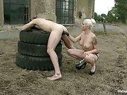 Slave boy got humuliated outdoors
