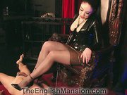 Terrible dick trampling from mistress