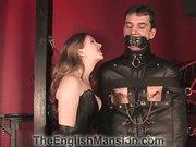 Gagged bound slave got cbt