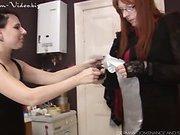 Kinky lesbians practicing diaper fetish
