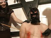 Slave's nipples bleeding after torture