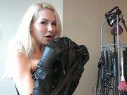 Mistress threatening with isolation mask