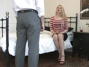 New hubby got ass spanked