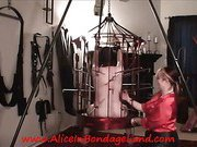 Slave in cage was tortured