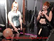 Slave was fucked by mistresses