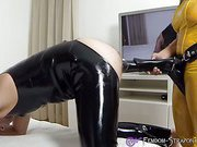 Pegged by huge black tool