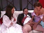 FEMDOM sph bridesmaids wank grooms tiny dick