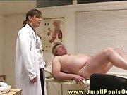 Femdom CFNM nurses wanking tiny penis