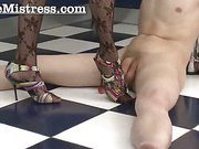 poor guy humiliated by high heels bitch