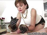 British Lady Sonia jerking dick